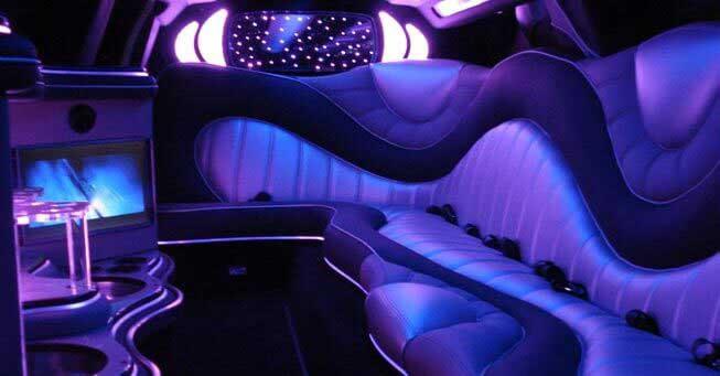 California Chrysler 300 Limo Interior