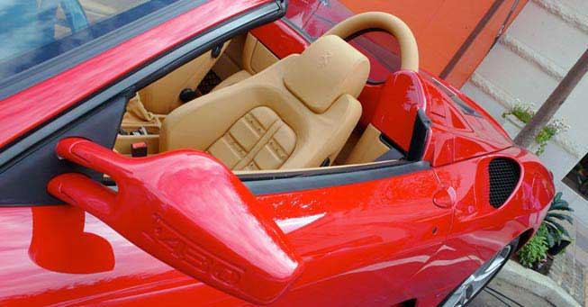 California Ferrari F-430 Interior