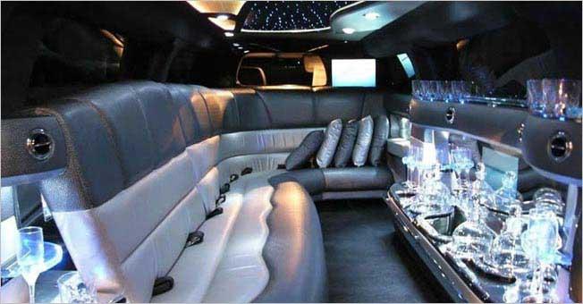 California Hummer Limousine H2 Stretch Interior