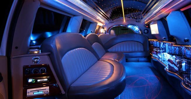California Range Rover Stretch Limo Interior